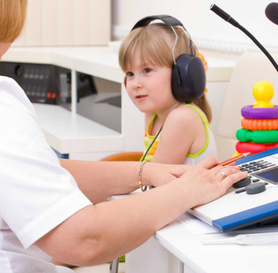 Esame audiometrico per bambini